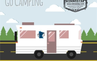 RV Graphic. Text: Go Camping. Minnestay.