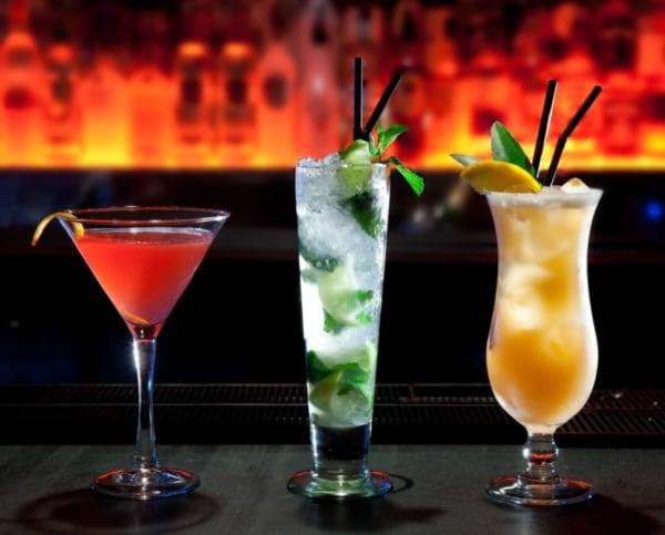 Three cocktails.