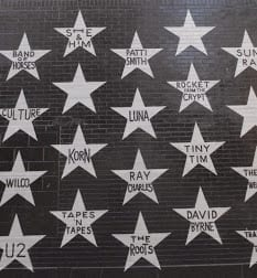 First Avenue star wall of musicians.
