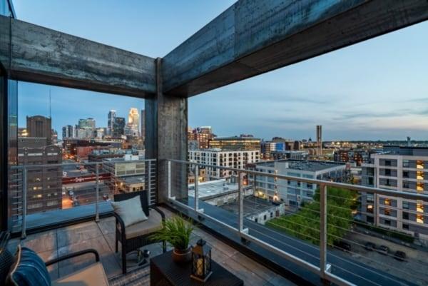 Minneapolis loft patio.