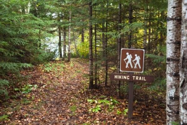 Fall hiking trail.