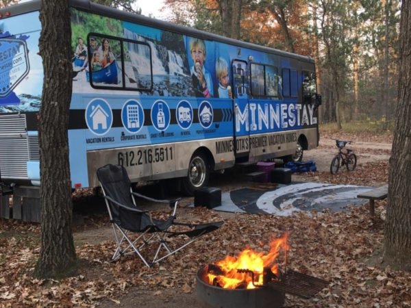 Minnestay RV at a campsite.