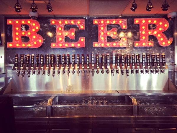 Thirty Surly Beer Taps. Text: Beer.