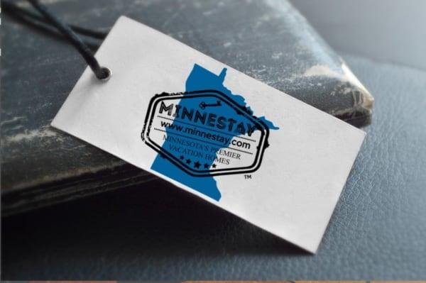 Minnestay logo tag.