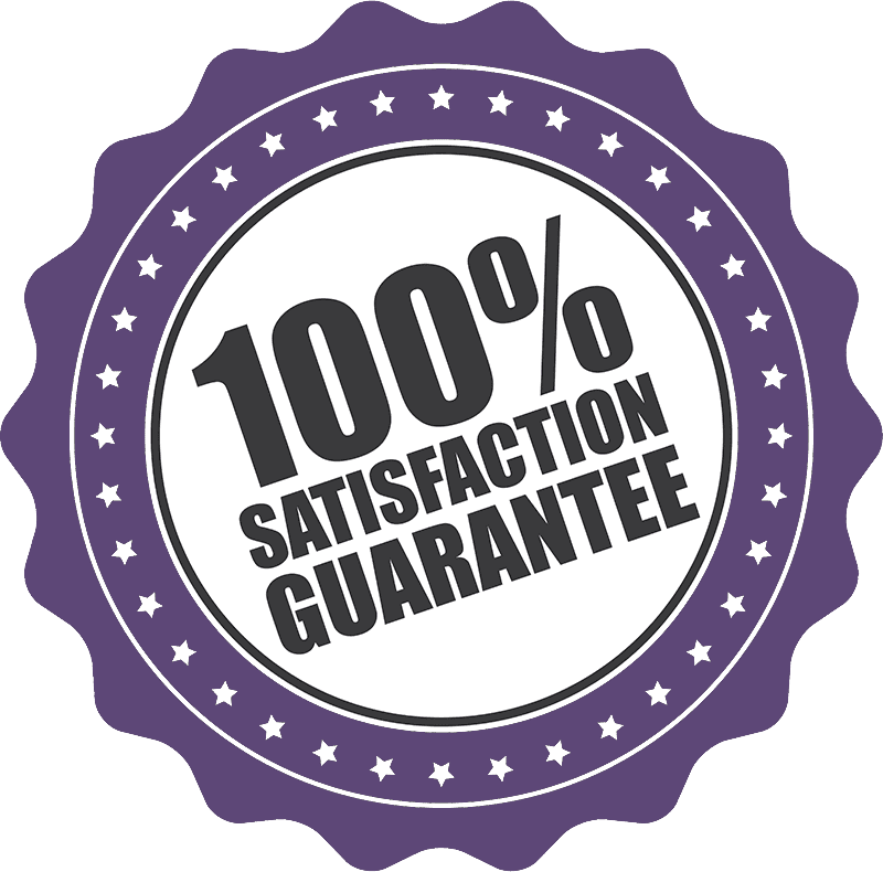 100% Satisfaction Guarantee badge.