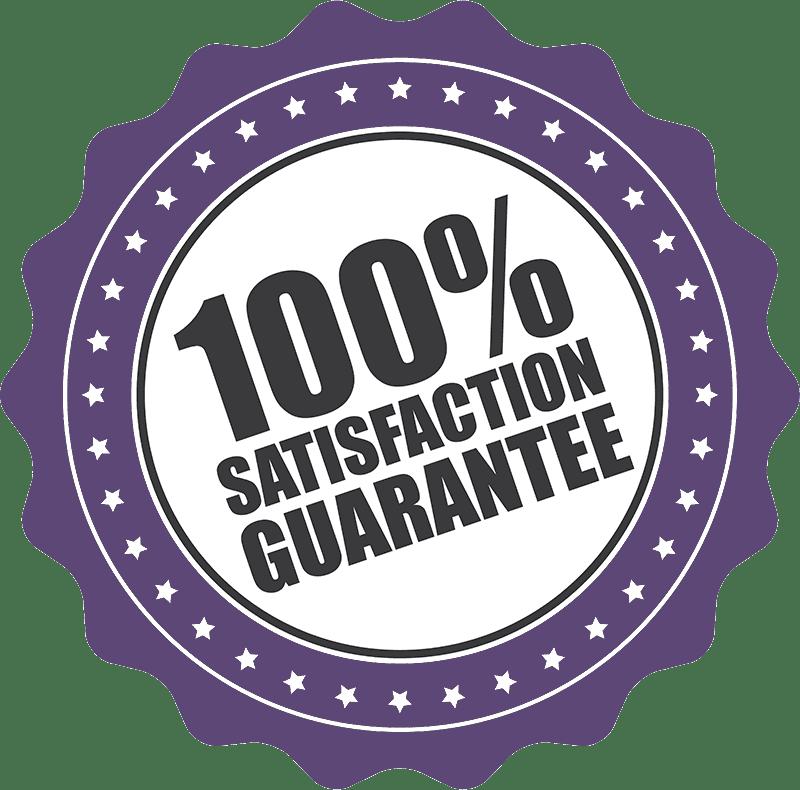100% Satisfaction Guarantee badge.