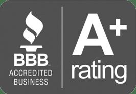 Better Business Bureau A+ Rating.