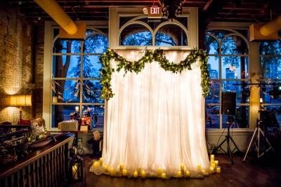 River Room wedding dec